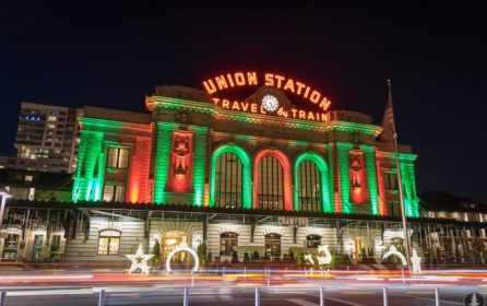 Denver Union Station during the Holidays