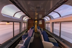 Amtrak observation car.